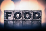 Food Concept Vintage Letterpress Type