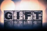 Gift Concept Vintage Letterpress Type