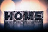 Home Concept Vintage Letterpress Type