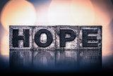 Hope Concept Vintage Letterpress Type