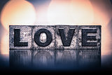 Love Concept Vintage Letterpress Type