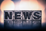 News Concept Vintage Letterpress Type