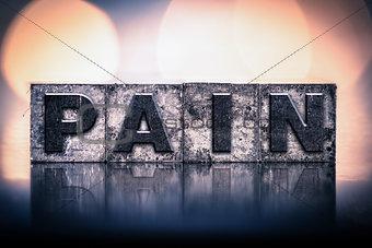 Pain Concept Vintage Letterpress Type