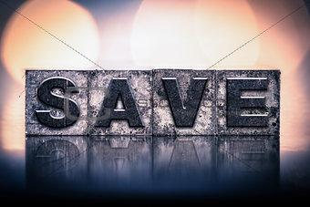 Save Concept Vintage Letterpress Type