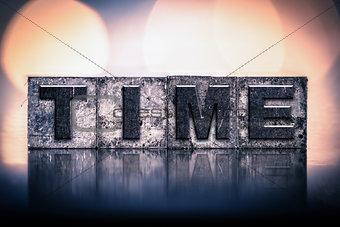 Time Concept Vintage Letterpress Type