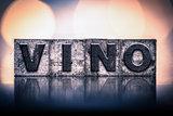 Wine Concept Vintage Letterpress Type