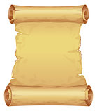 Big golden scroll of parchment
