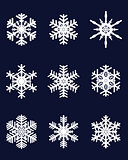 white snowflakes