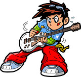 Anime Manga Guitar Player