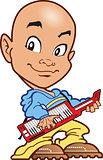 Bald Keyboard Player