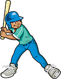 Boy Baseball Batter