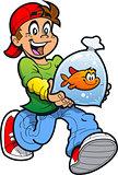 Boy With Goldfish