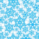 Blue background seamless snowflakes
