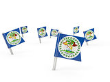 Square pins with flag of belize