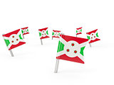 Square pins with flag of burundi