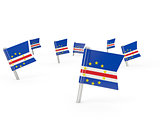Square pins with flag of cape verde