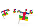 Square pins with flag of central african republic