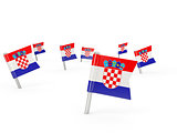 Square pins with flag of croatia