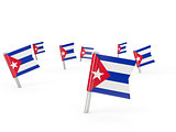 Square pins with flag of cuba