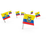 Square pins with flag of ecuador