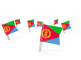 Square pins with flag of eritrea