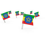 Square pins with flag of ethiopia