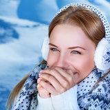 Winter woman's portrait