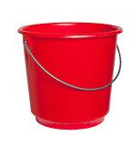 Single red bucket isolated