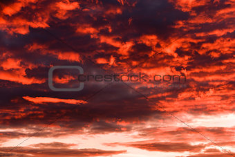 Sky, clouds and afterglow