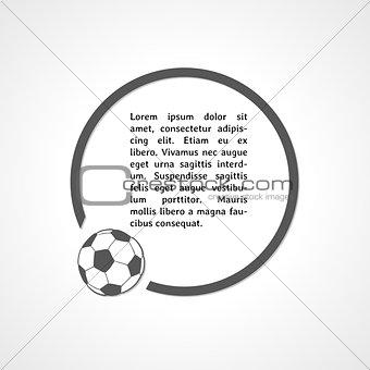 football symbol and circle