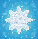 Blue Christmas background with snowflake