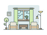 Living room linear style