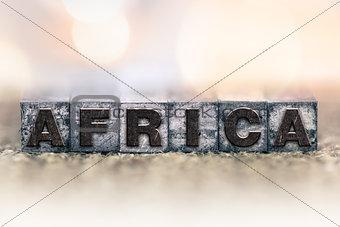 Africa Concept Vintage Letterpress Type