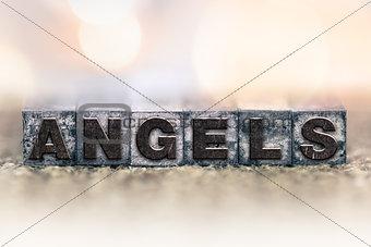 Angels Concept Vintage Letterpress Type