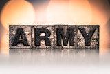 Army Concept Vintage Letterpress Type