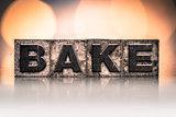 Bake Concept Vintage Letterpress Type