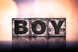 Boy Concept Vintage Letterpress Type