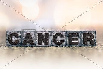 Cancer Concept Vintage Letterpress Type