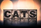 Cat Concept Vintage Letterpress Type