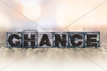 Chance Concept Vintage Letterpress Type