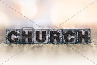 Church Concept Vintage Letterpress Type