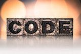 Code Concept Vintage Letterpress Type