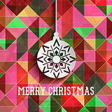 Christmas bauble on a retro abstract background