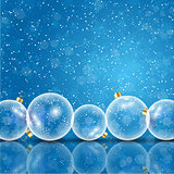 Glass christmas baubles background