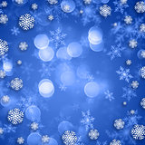 Snowflakes on Christmas background