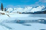 Winter mountain landscape. Kappl ski resort, Austria.