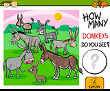 counting task with donkeys cartoon