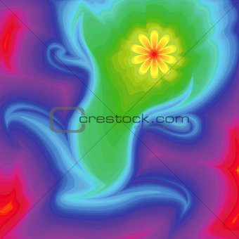 Abstraction with flower and spectrum colors