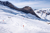 Ski piste on Hintertux glacier