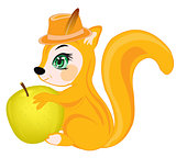 Squirrel with apple